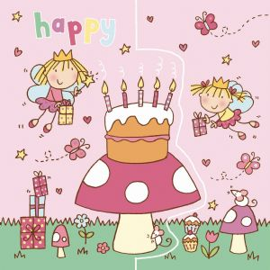Sparkly Fairies Birthday Card, Pop Out Card TW189